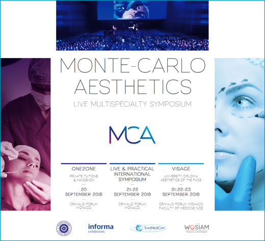 MCA 2018 Monte-Carlo Aesthetics / Live & Practical International Symposium