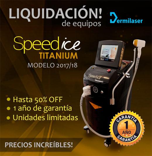 Speed Ice Titanium: liquidación de equipos de depilación láser 2017/18